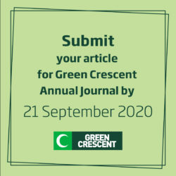 Contribute to the Green Crecent Journal!