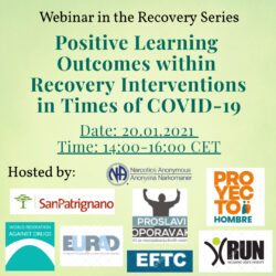 Webinar: Positive Learning Outcomes within Recovery Interventions in Times of COVID-19