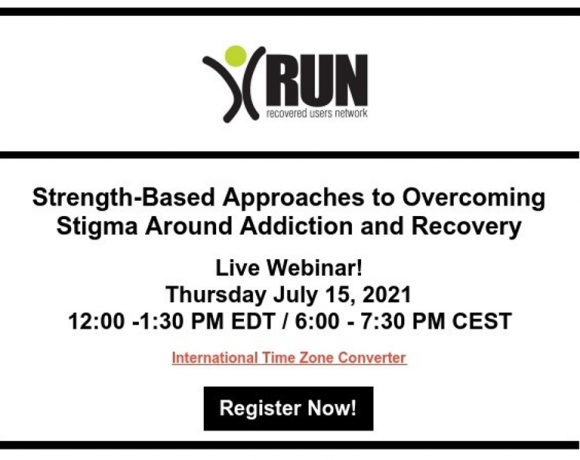 Webinar: Strenght-Based Approaches to Overcoming Stigma Around Addiction and Recovery