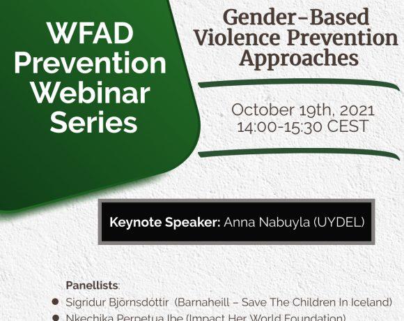 Prevention Webinar Series – Webinar IV – Gender-Based Violence Prevention Approaches